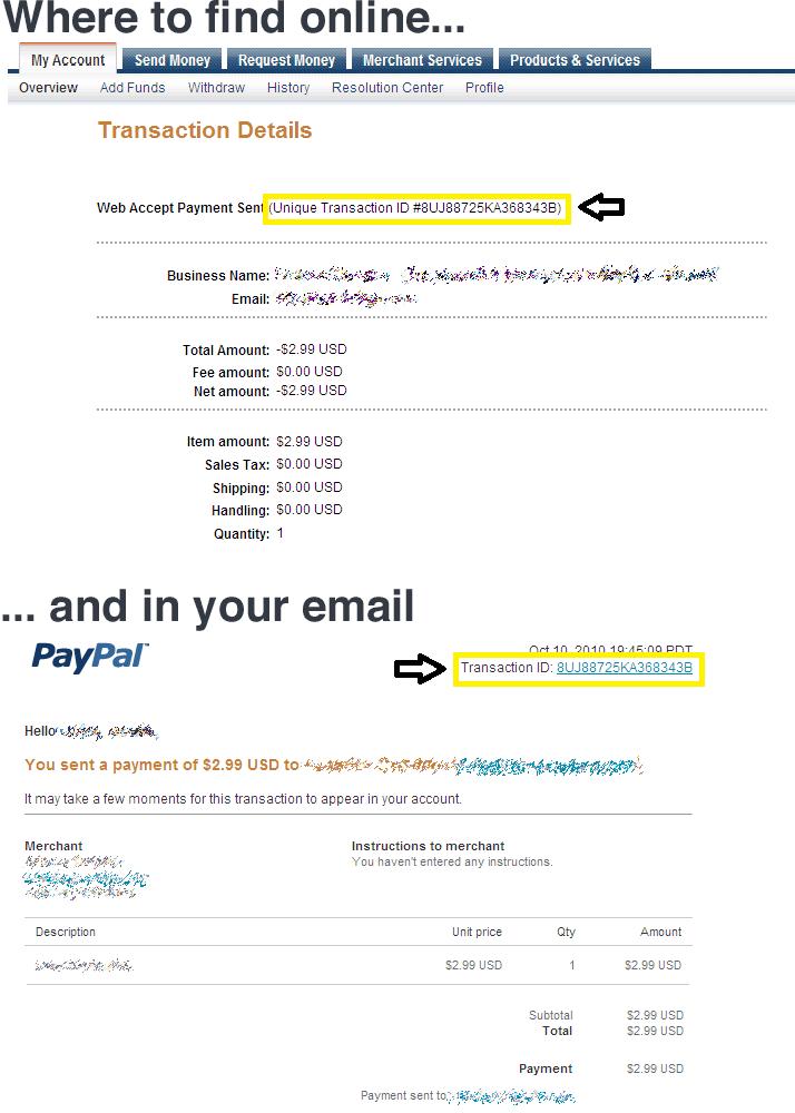 paypal transaktion